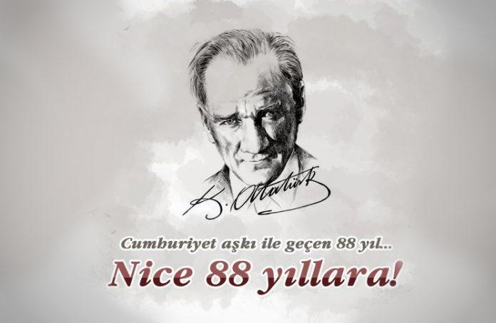 Cumhuriyet'in 88. yılı